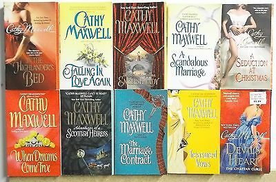 10 books by CATHY MAXWELL Lot #A543 Free US S/H PB HISTORICAL ROMANCE