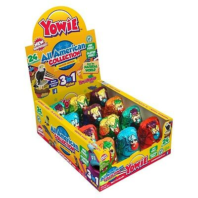 909978 BOX OF 12 x 28g YOWIE CHOCOLATES IT'S BACK! ALL AMERICAN COLLECTION USA