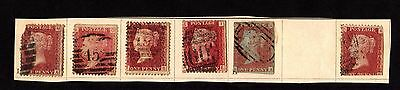 Stamps (x6) ~ QUEEN VICTORIA PENNY RED 1d ~ Unchecked & Unsorted