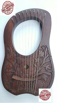 Lyre Harp 10 Metal Strings With Free Key And Bag.