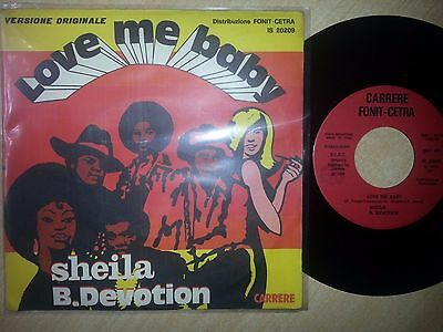 Sheila B Devotion - Love Me Baby / Instrumental Disco 45 Giri 7'