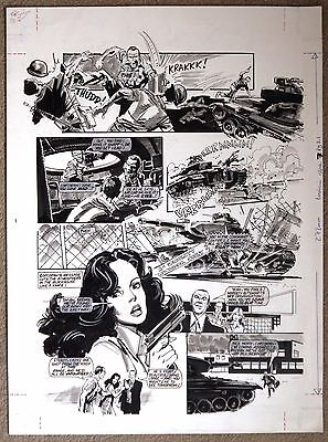 Charlies Angels Original Art Page From Look-In By Jim Baikie