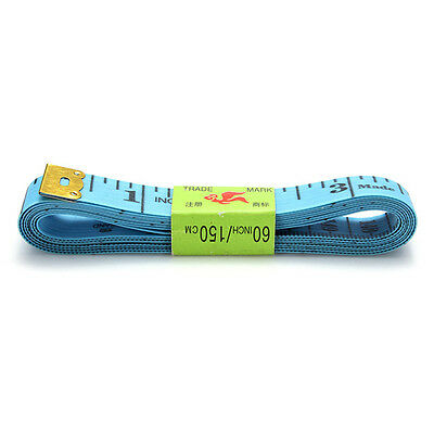 """L/Blue Flat Tape Measure 150cm/60""""for Tailor Sewing Cloth Body Diet Measuring"""