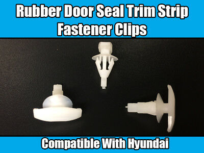 For HYUNDAI DOOR BOOT RUBBER RETAINING TRIM CLIPS X10