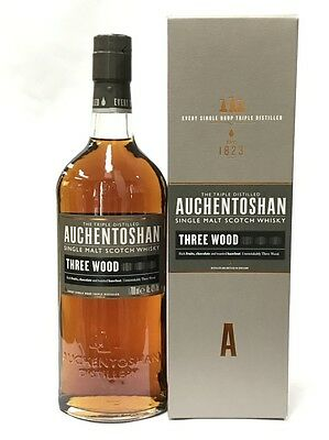 Auchentoshan Three Wood Single Malt Scotch Whisky 700Ml Boxed