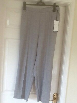Ladies M & S Classic Trousers Size 12 Short Silver Grey BNWT