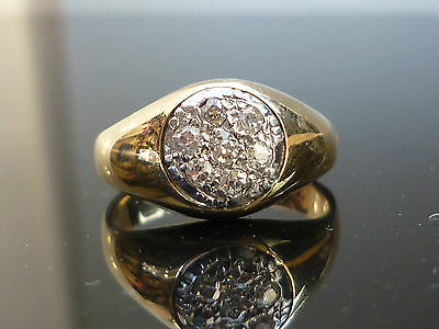 Stunning HEAVY 18ct gold Brilliant cut diamond Star Ladies or Gents 'pinky' ring