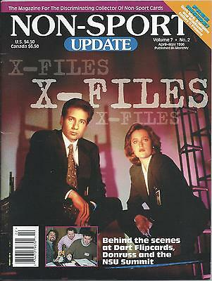 Non-Sport Update Vol. 7 No. 2 (Apr./May 1996) FN X-Files photo cover