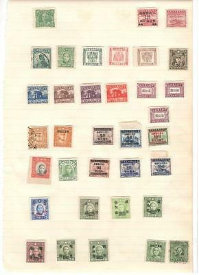 hx8 China album page 35 stamps mixed condition