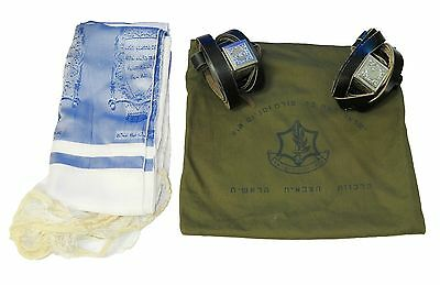 set TEFILLIN Phylacteries ORIGINAL ZAHAL IDF ISRAEL DEFENSE FORCE JUDAICA