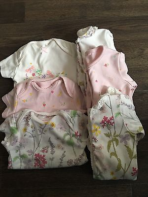 Next Pink Floral Sleepsuits & Bodysuits First Size *CURRENT SEASON*