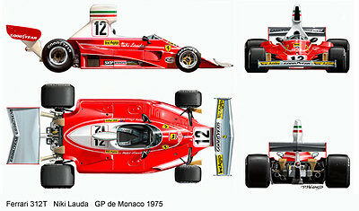 1/12 Tamiya Ferrari 312T 12034 12019 decal sticker niki lauda protar revell kit