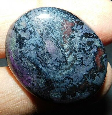 43.45cts. NATURAL AAA Sugilite 30X25 Oval Cab Loose Gemstone SK-16