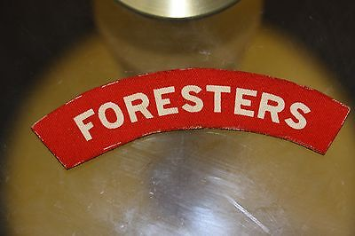 ww2 notts and derby foresters printed cloth shoulder title