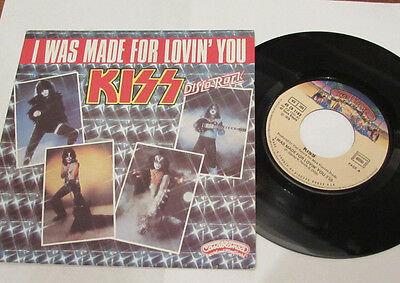 """KISS  I WAS MADE FOR LOVIN' YOU   RARE   FRENCH 7"""" p/s"""