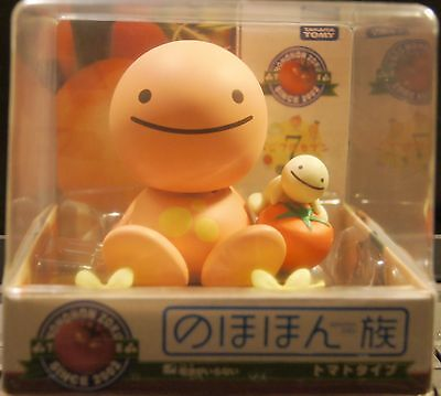 Japan TOMY Nohohon Zoku Solar Bobble Head Figure Sunshine Buddies Tomato Type