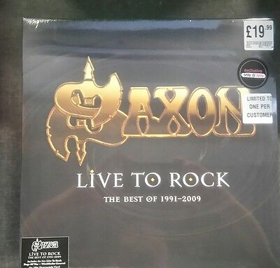 Saxon Live To Rock The Best Of 1991-2009 Limited Edition Vinyl LP HMV 1000 Only