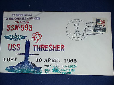 HAND MADE USS THRESHER COVER OF 1974 OLD IRONSIDES CHAPTER ONE maybe unique ?