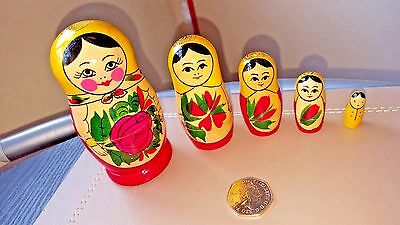 Russian Doll, Traditional Classic Matryoshka Nesting Dolls Semenov 5Pcs