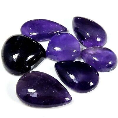 126.55cts NATURAL GORGEOUS PURPLE AMETHYST LACE AGATE MIX CABOCHON LOT GEMSTONE