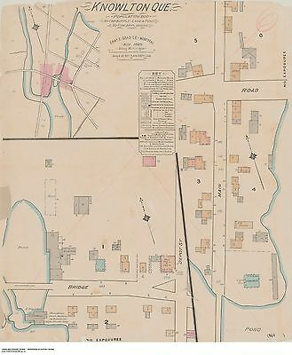 QUEBEC KNOWLTON  Street & Building Map 1885