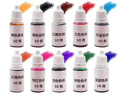 About UV special high concentration oily color crystal epoxy resin pigment 10Pcs
