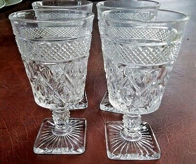 Imperial Cape Cod Glass Footed Ice Tea Tumbler Set Of 4