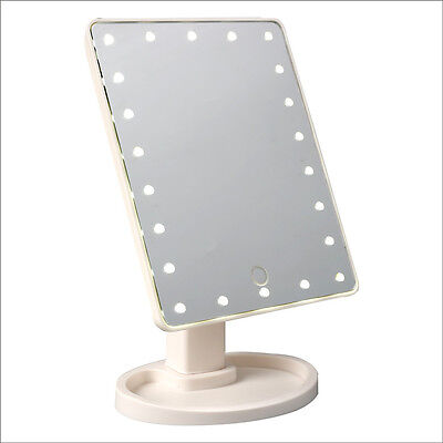 Rotation Touch Screen Makeup Mirror LED Lighted Vanity Mirror