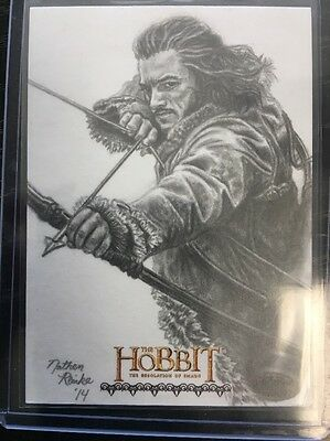 The Hobbit Desolation Of Smaug Sketch Card By Nathen Reinke