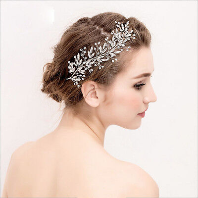 Beautiful Rhinestones Wedding Hair Vine Bridal Tiara Hairband Silver Colour UK