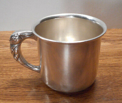 Antique Sterling Silver 719 BUNNY RABBIT Children's Cup 5 Ounce