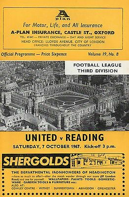 OXFORD  v  READING    67/8