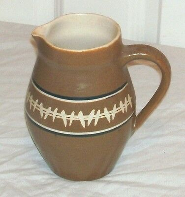 Nice Large Vintage Brixham Pottery Jug /pitcher In Good Condition 7 Inches Tall