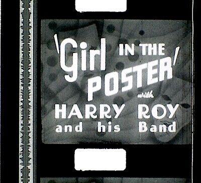 9.5mm Film  -  GIRL IN THE POSTER  - 1937  - B/W  -  SOUND   - 250'