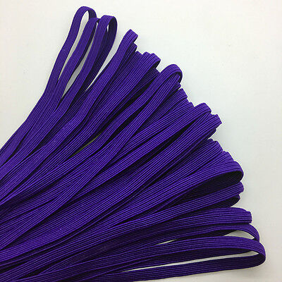 """5yds 1/4"""" 6mm Deep purple Thickening Satin Elastic Band Trim Sewing Spandex Lace"""