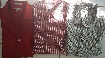 Lot of 3 Express men's shirts, Size L (Fitted and Modern Fit)