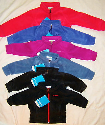 COLUMBIA Fleece Jacket Girl Boy 3/6 6/12 12/18 M 3T Benton Springs Purple Pink +