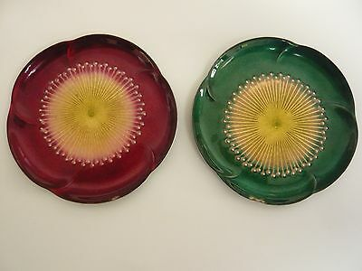 Pair Vintage Chinese Cloisonne Enamelled Dishes in Flower Form