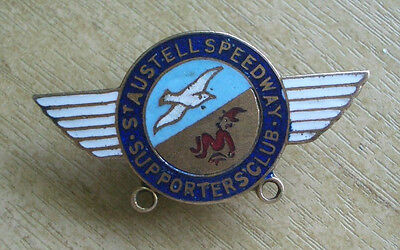 St Austell Speedway Supporters Club Vintage Lapel Badge