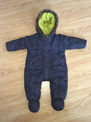 Baby Boys Ted Baker All In One Coat Snowsuit 3-6 Months