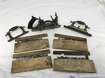 Vintage Stanley 55 Combination Woodworking Plane Wood Tool with Blades/Cutters