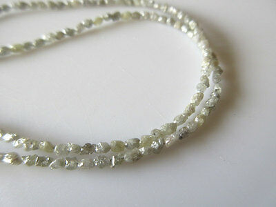 """8"""" Raw Uncut Natural Diamond White Gray Conflict Free River Rough 3-4mm DDS130/2"""