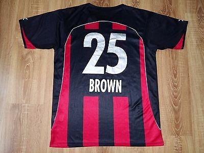 Neuchâtel Xamax 2007 - 2008 #25 Brown signed maybe match worn home shirt size XL