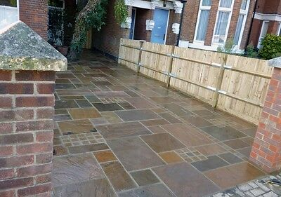 Autumn Brown 22mm Calibrated Indian Sandstone Paving Natural Stone Patio Flags