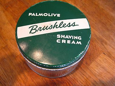 Vintage Palmolive Brushless Shaving Glass Jar