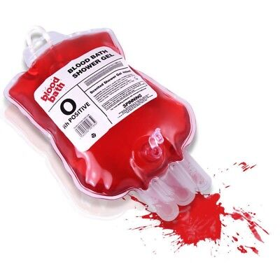 400Ml Blood Bath Shower Gel Cherry Sceneted Iv Intravenous Drip Halloween Horror