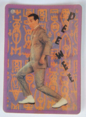 Pee Wee Herman 3-D Motion Card JCPenney Clothing Tag w/ Fan Club Information