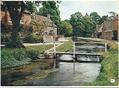 Vintage Postcard 'Lower Slaughter' The Cotswolds.