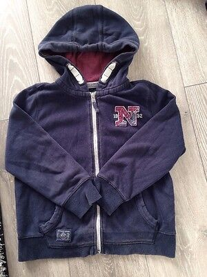 Boys Next Zip Up Hooded Jumper / Cardigan Top Age 7 Years