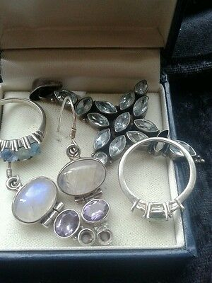 sterling silver stones missing lot
